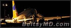 Румынский самолёт выкатился за пределы полосы