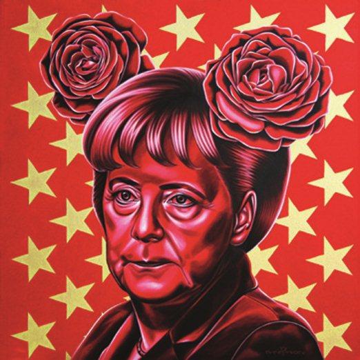 портреты художника Рината Шингареева - Ангела Меркель