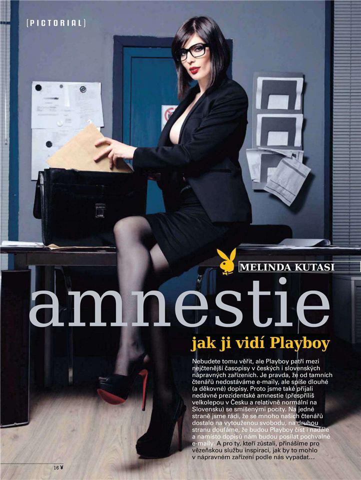 Амнистия - Мелинда Кутаси / Melinda Kutasi - Playboy Czech Republic april 2013
