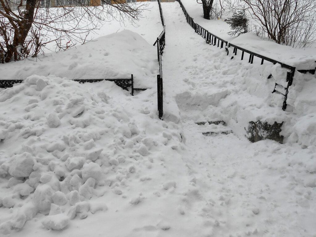 Лестница, занесенная снегом