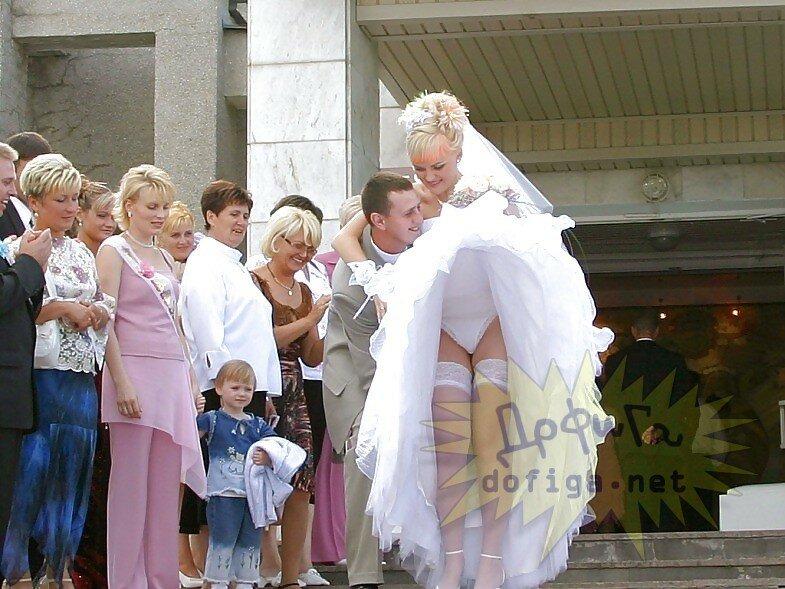 под платьем у невест видео