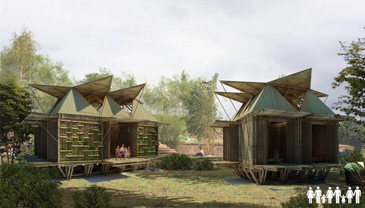 Дома из бамбука - безопасное жилье во время наводнений