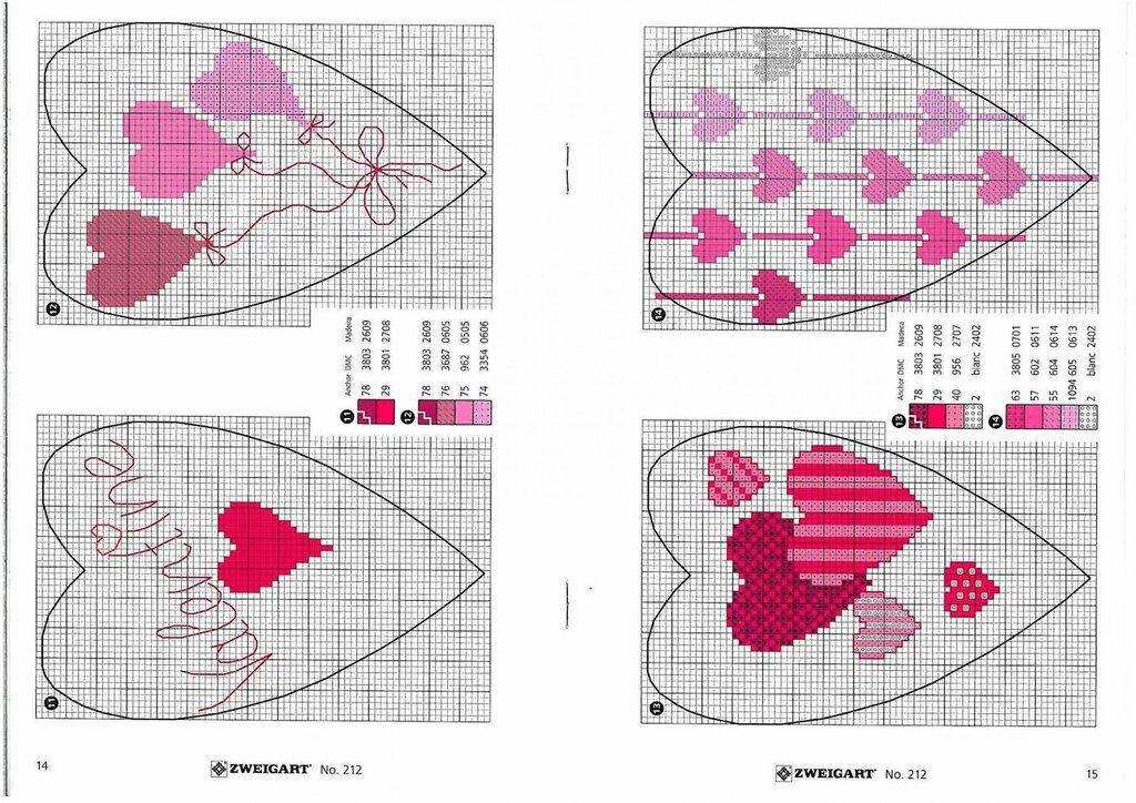 Анимацией людей, схема вышивка открытка