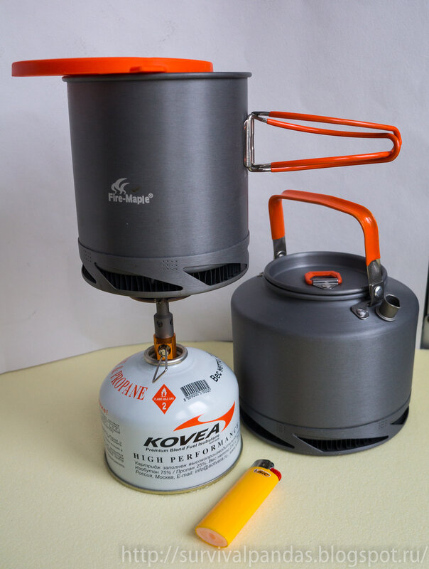 Титановая горелка и радиаторная посуда Fire Maple