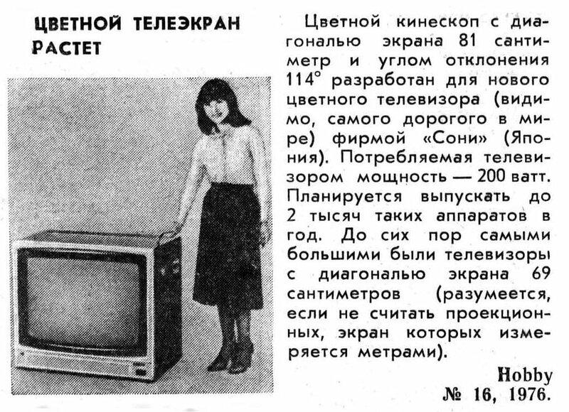 Самый большой телевизор 1976 года