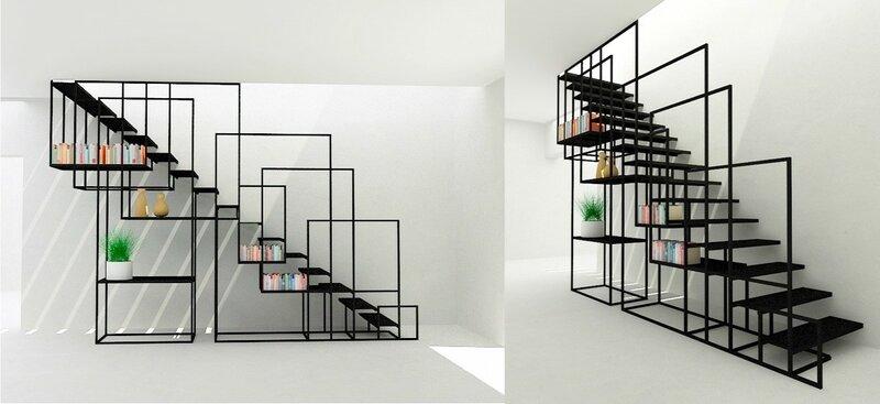 Лестница для дома на второй этаж дизайн фото 6