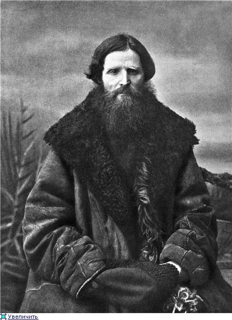 Мужчина в овчинном тулупе. Фото 1900-х гг.