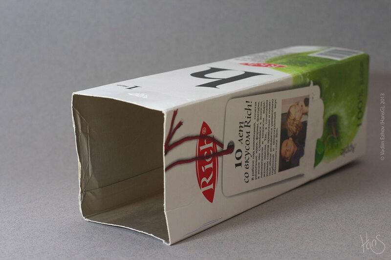 Поделки из коробки из под сок
