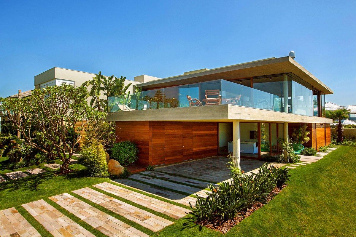 La Plage Residence, Stemmer Rodrigues, пляжный дом фото, примеры пляжных домов, особняки в Бразилии, резиденция на берегу моря, дом на берегу океана