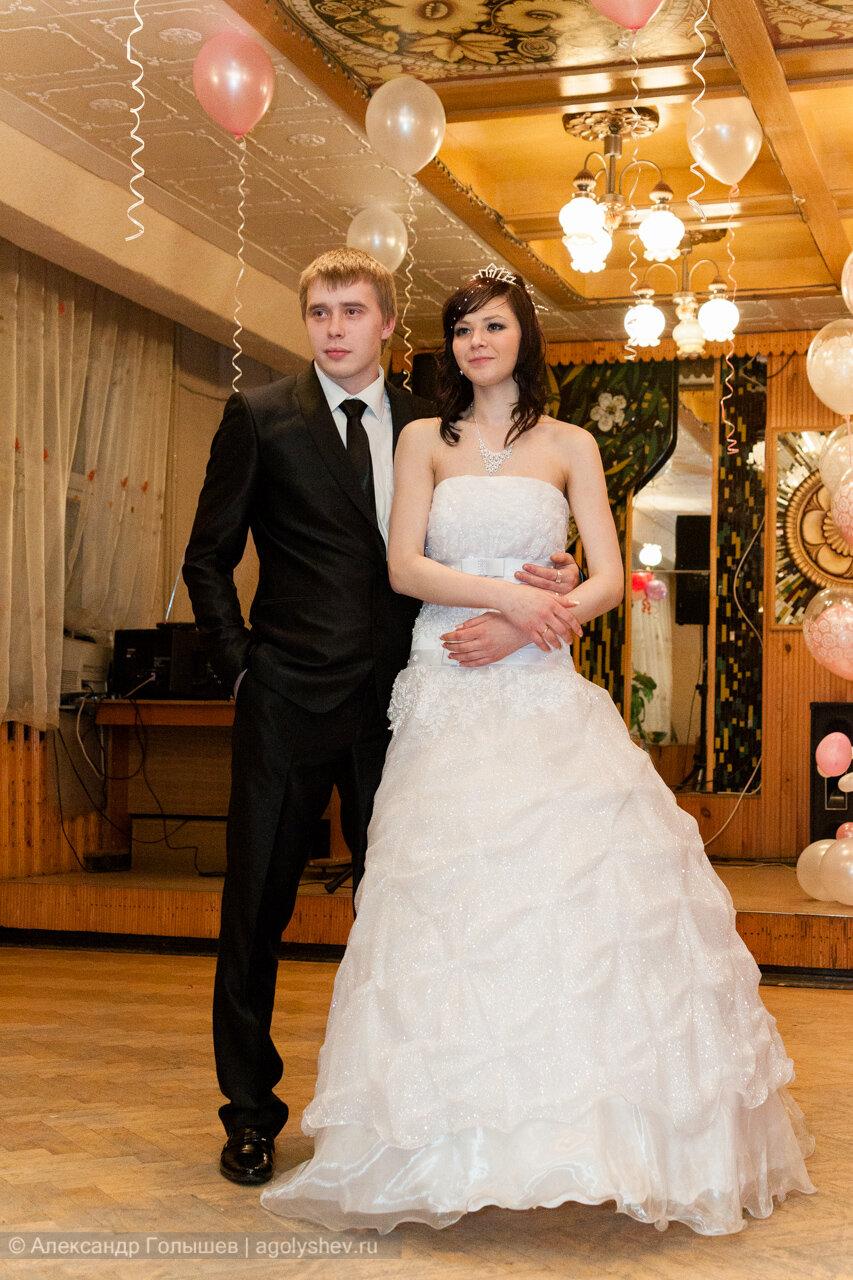 На свадебном банкете