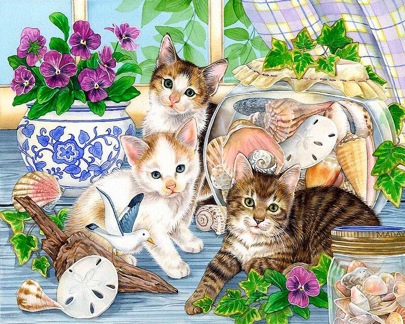 Матери картинки, открытка много кошек