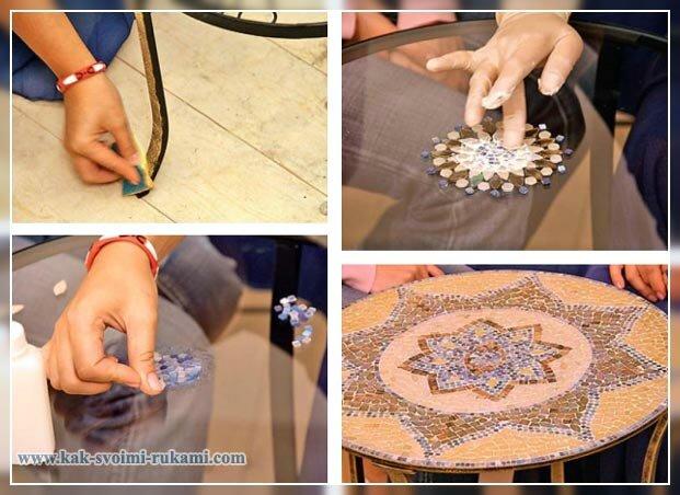 столик с орнаментом своими руками
