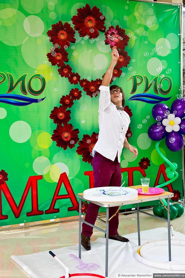 Шоу мыльных пузырей в РИО 8 марта 2013 г