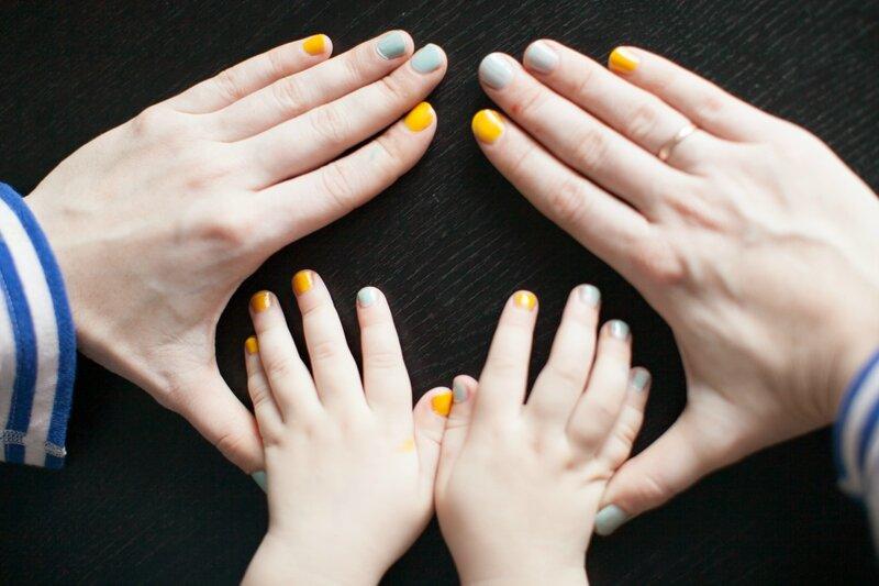 дочки-матери маникюр