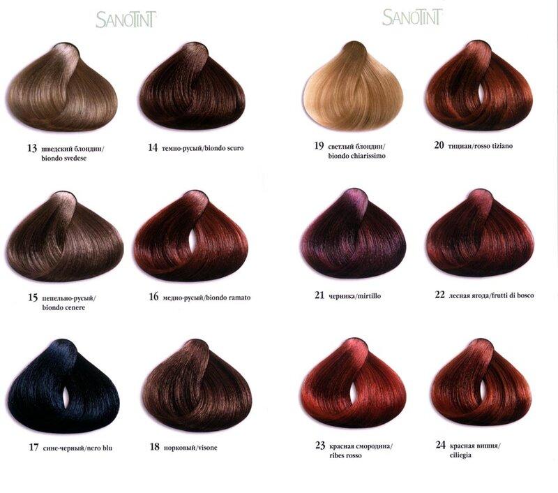 Палитра профессиональных красок для волос