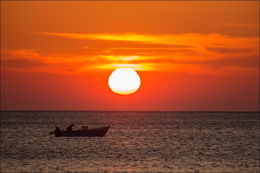Закат на острове Китнос
