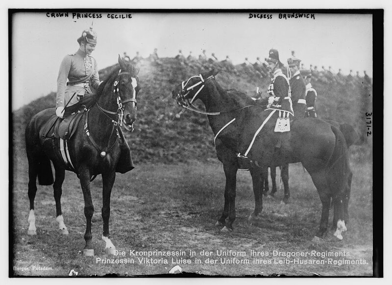 Crown Princess Cecilie[and Duchess Brunswick.