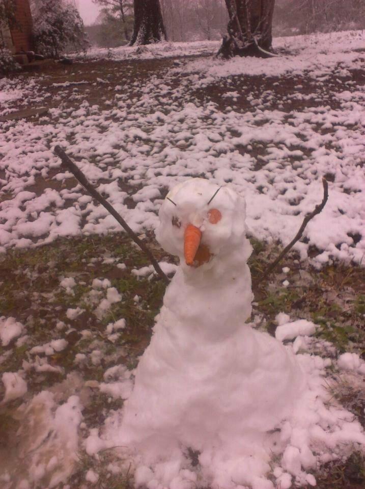 Чей-то первый снеговик