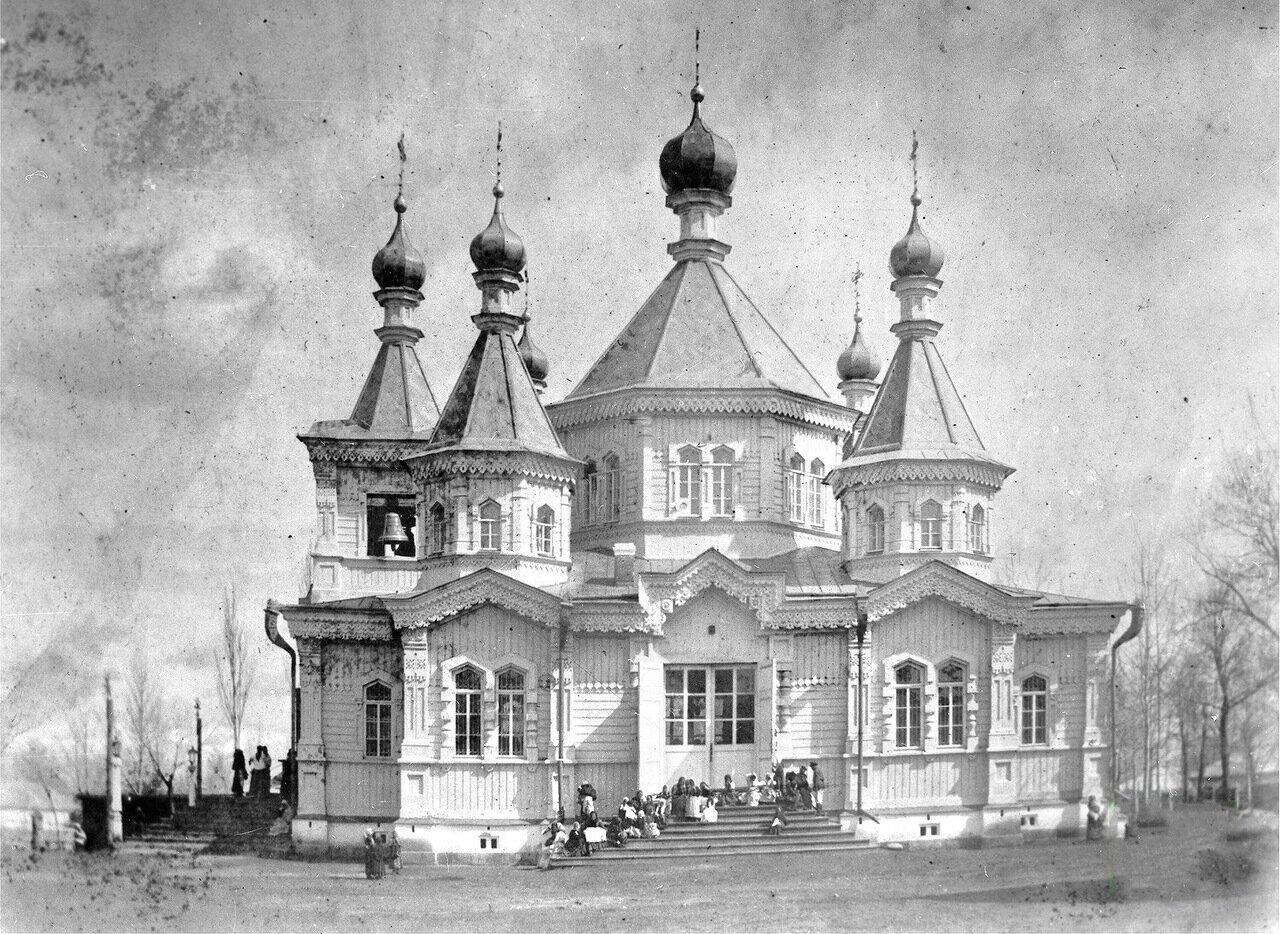 Внешний вид Свято Троицкого храма в городе Пржевальск 1908 г.
