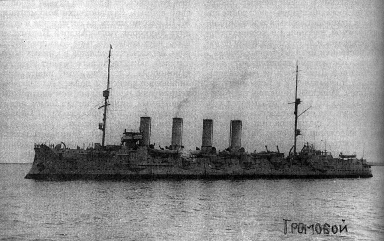 Броненосный крейсер Громобой в 1913 году.