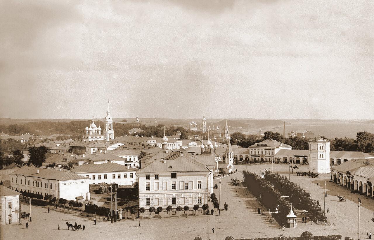 Вид с пожарного депо 1913г