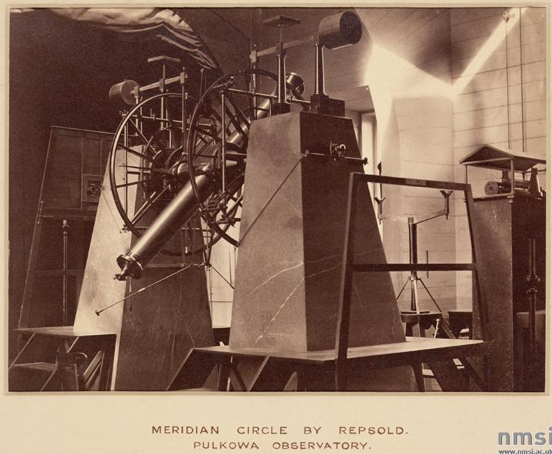 Меридианный круг Репсольда в Пулковской обсерватории 1876 г.