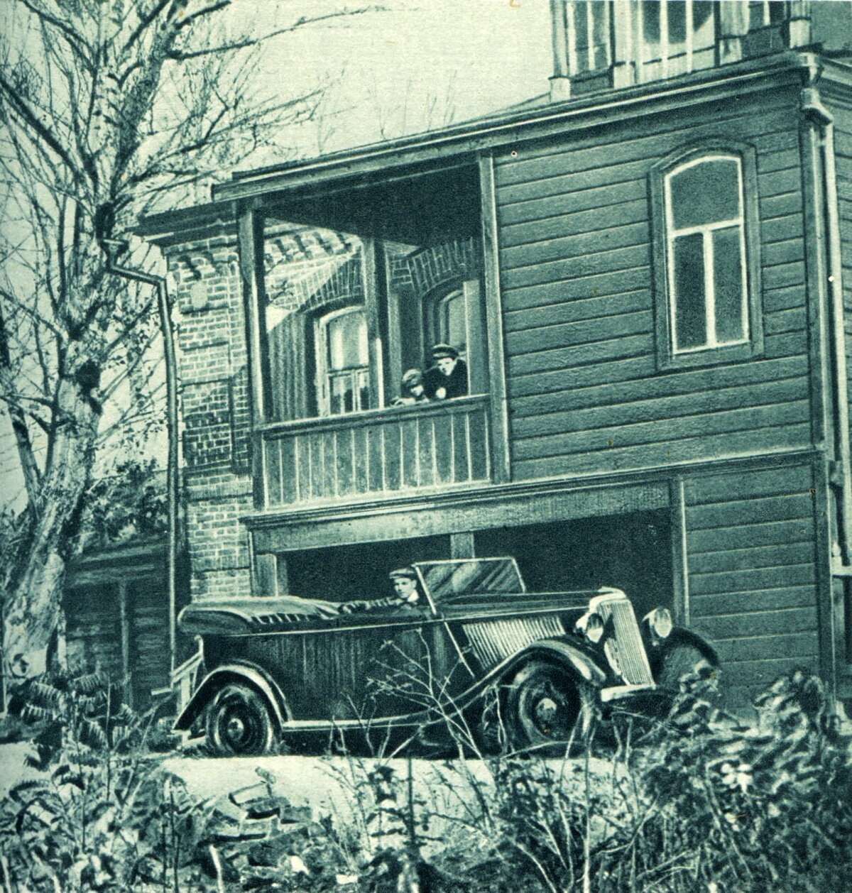 Вход в дом И. В. Мичурина