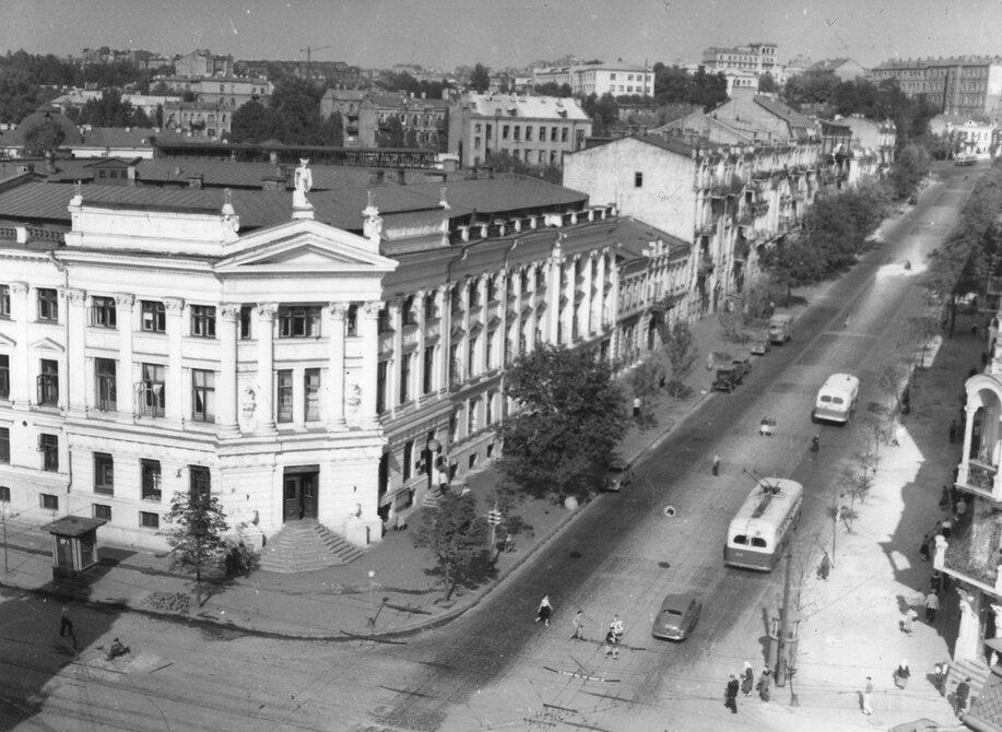 1954.09.14. Общий вид улицы Коминтерна. Фото: Примаченко А.