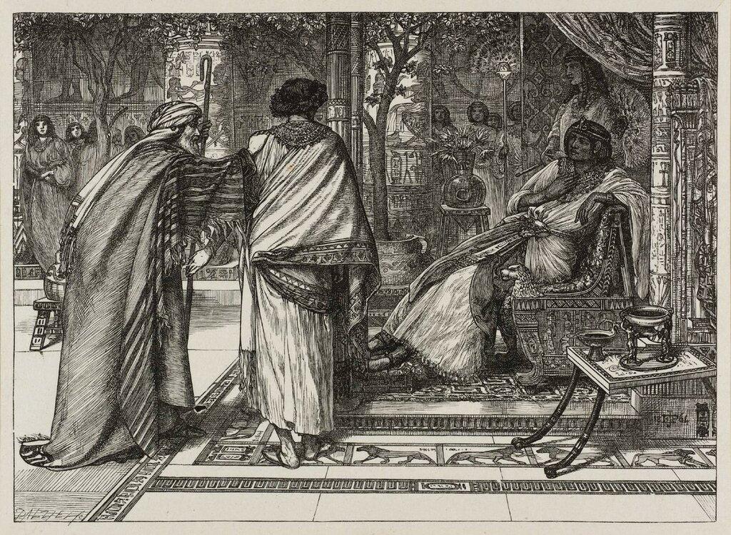 Joseph Presents his Father to Pharoah 1864 by Sir Edward Poynter 1836-1919