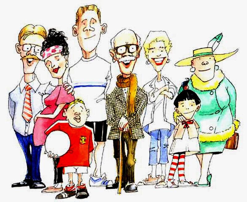 Красивые самые, смешные рисунки на тему семья