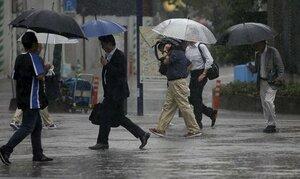 В Японии объявили предупреждение из-за надвигающегося шторма