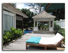 Сейшелы. О. Маэ. Banyan Tree Seychelles. Presidential Villa Verandah Facing Pool