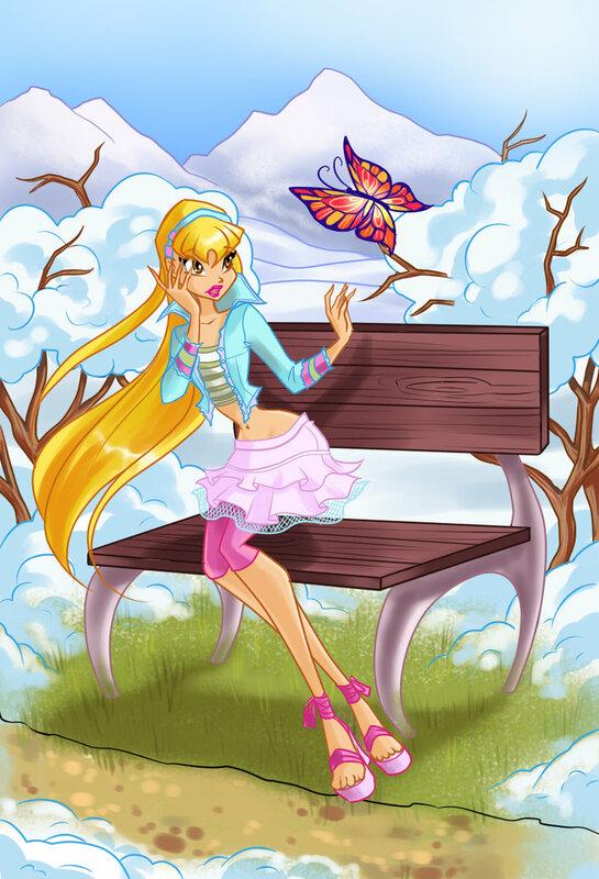 Принцесса Стелла Винкс чудесная одевалка +мой конкурс аниме!