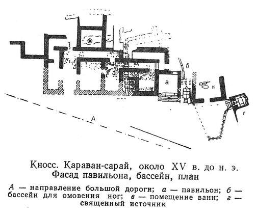 Караван-сарай в Кноссе, план
