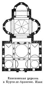 Епископская церковь в Курти-де-Арджеше, план