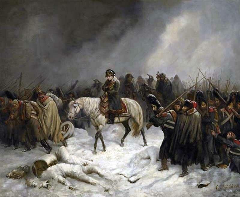 Картина А. Нортерна «Отступление Наполеона из Москвы», 1851 год.