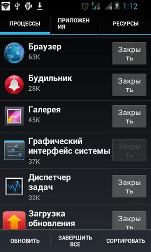 Стандартный Диспетчер Задач Для Андроид