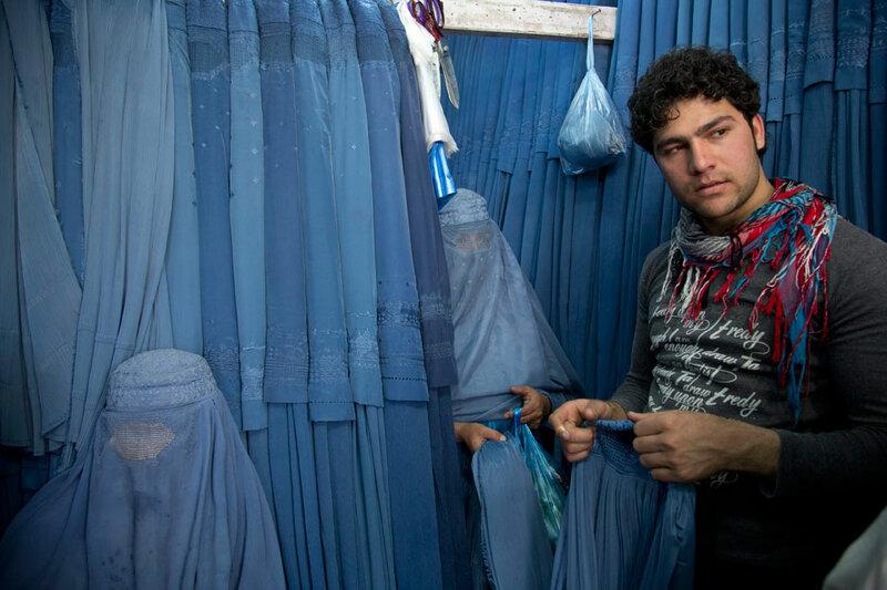 APTOPIX Afghanistan Burqa Woes