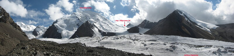 Ледник Каратор. Снято по пути с перевала Щорса к Каратору.