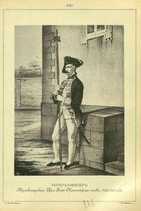 420. УНТЕР-ОФИЦЕР Мушкетерского Цеге-Фон-Мантейфеля полка, 1756-1761 год.