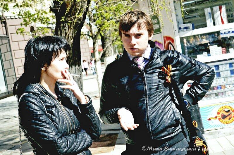 Георгиевская ленточка, Саратов, проспект Кирова, 29 апреля 2013 года