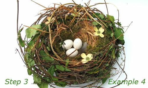 Сделать гнездо на пасху своими руками