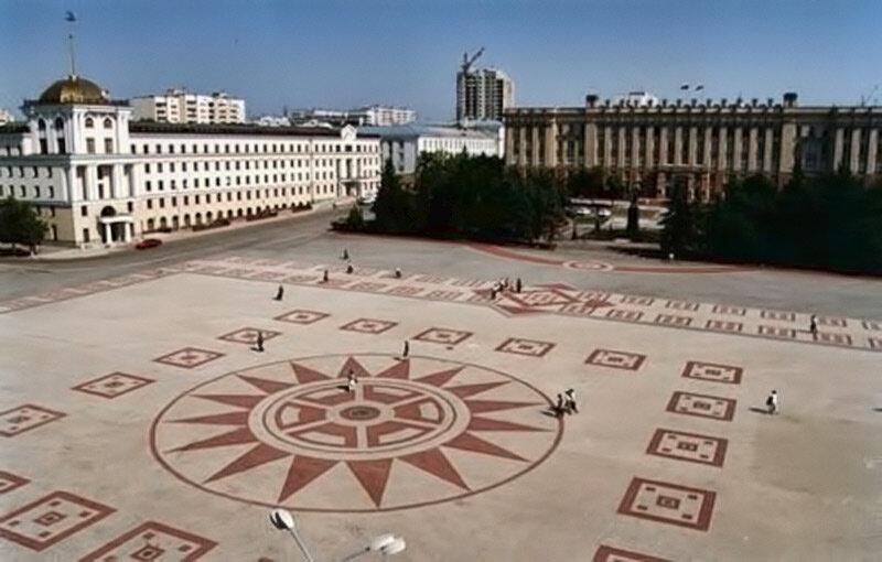 Вид сверху на покрытие Соборной площади, фото Василич