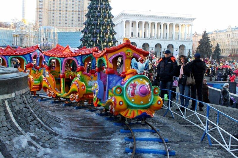 Детская железная дорога на Майдане Незалежности