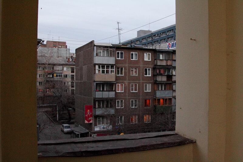 Вид с третьего этажа Елькина 76
