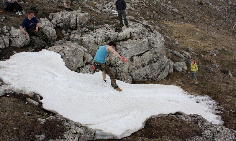 Снег в горах это всегда много радости