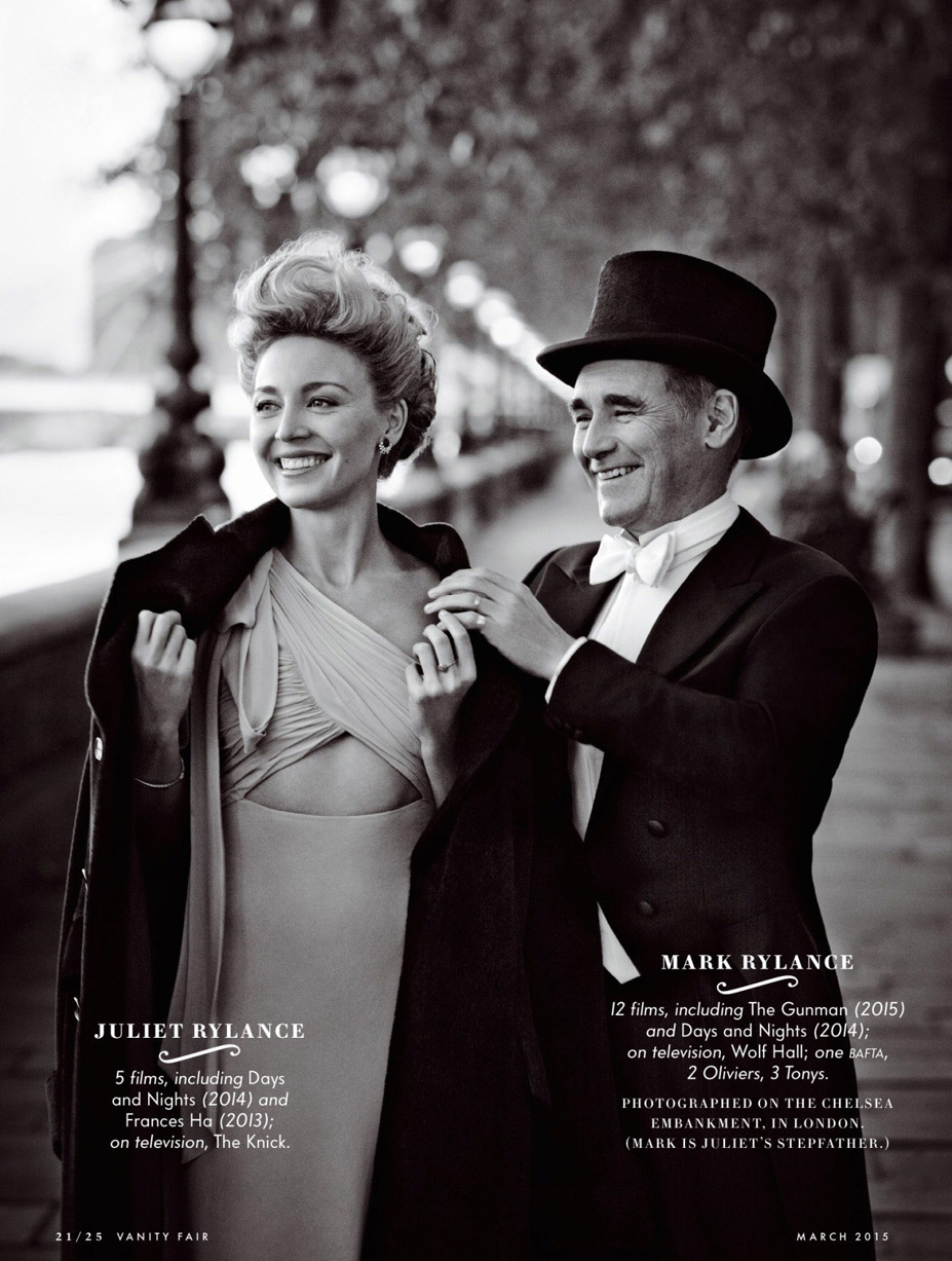 Лучшие британские актеры в проекте The 2015 Hollywood Portfolio by Jason Bell in Vanity Fair march 2015 - Джульет и Марк Райланс / Juliet and Mark Rylance