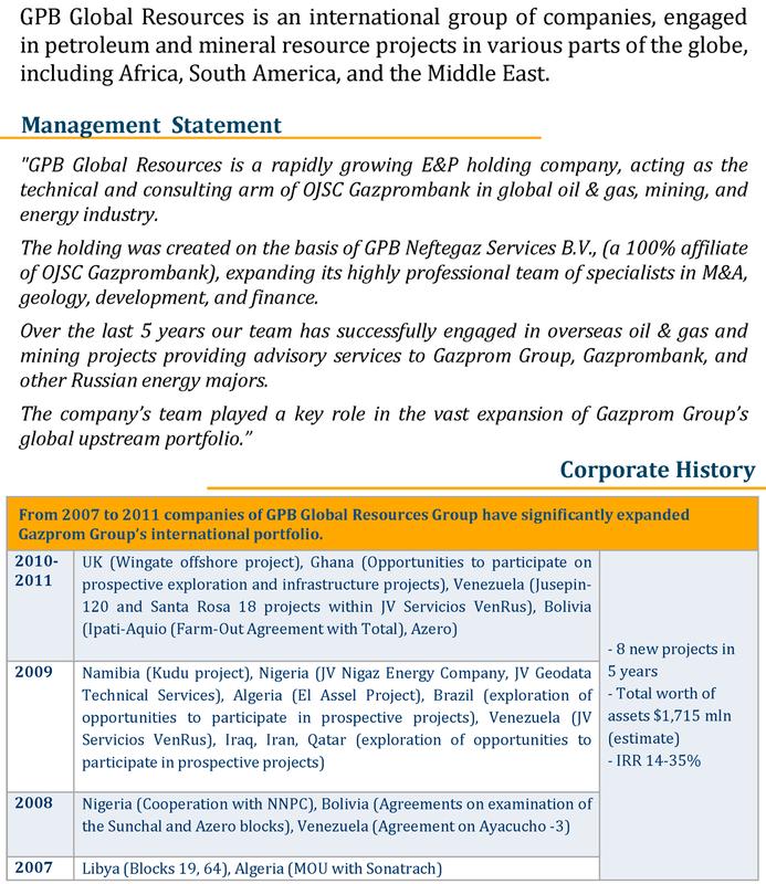 GPB Global Resources: обзор компании
