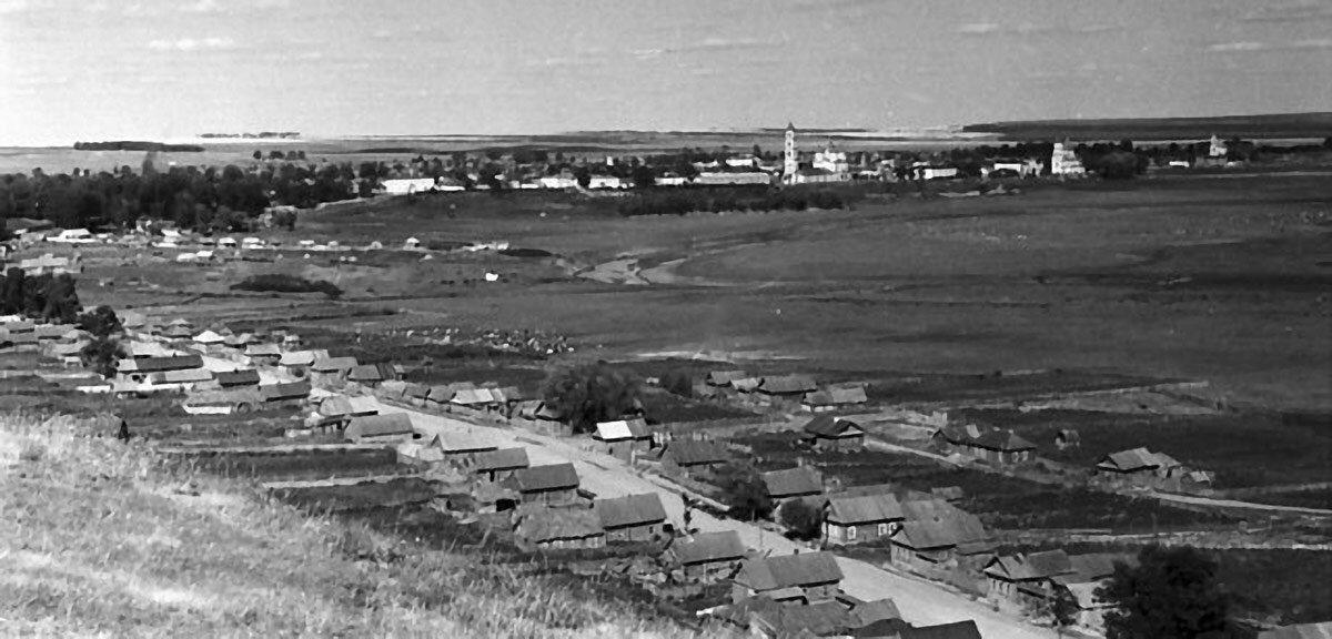 Панорама Елабуги. Вид с Чёртова городища.