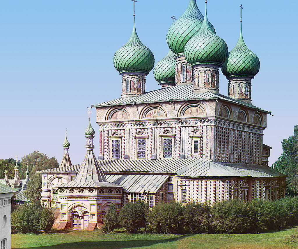 Церковь Воскресения на дебрях (с другой стороны). 1910.